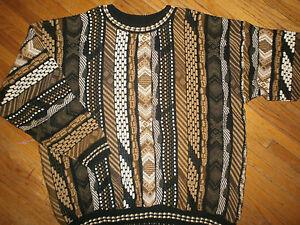 Alexandre Lloyd Cosby Pull Géométrique Tricot Fête Laid Vintage Années 90 Urbain