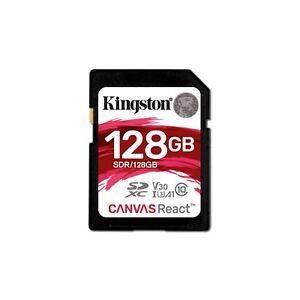 Carte Sd 128 Go.Details Sur Kingston 128 Go Toile React Carte Sd Class 10 Uhs 1 U3 Afficher Le Titre D Origine