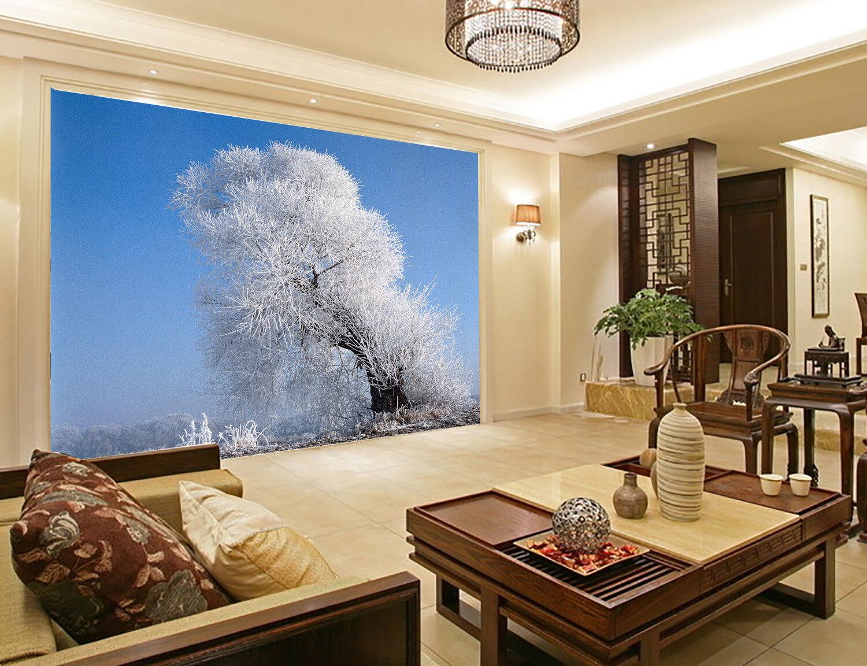 3D Verschneite Bäume 85 Tapete Wandgemälde Tapete Tapeten Bild Familie DE Summer