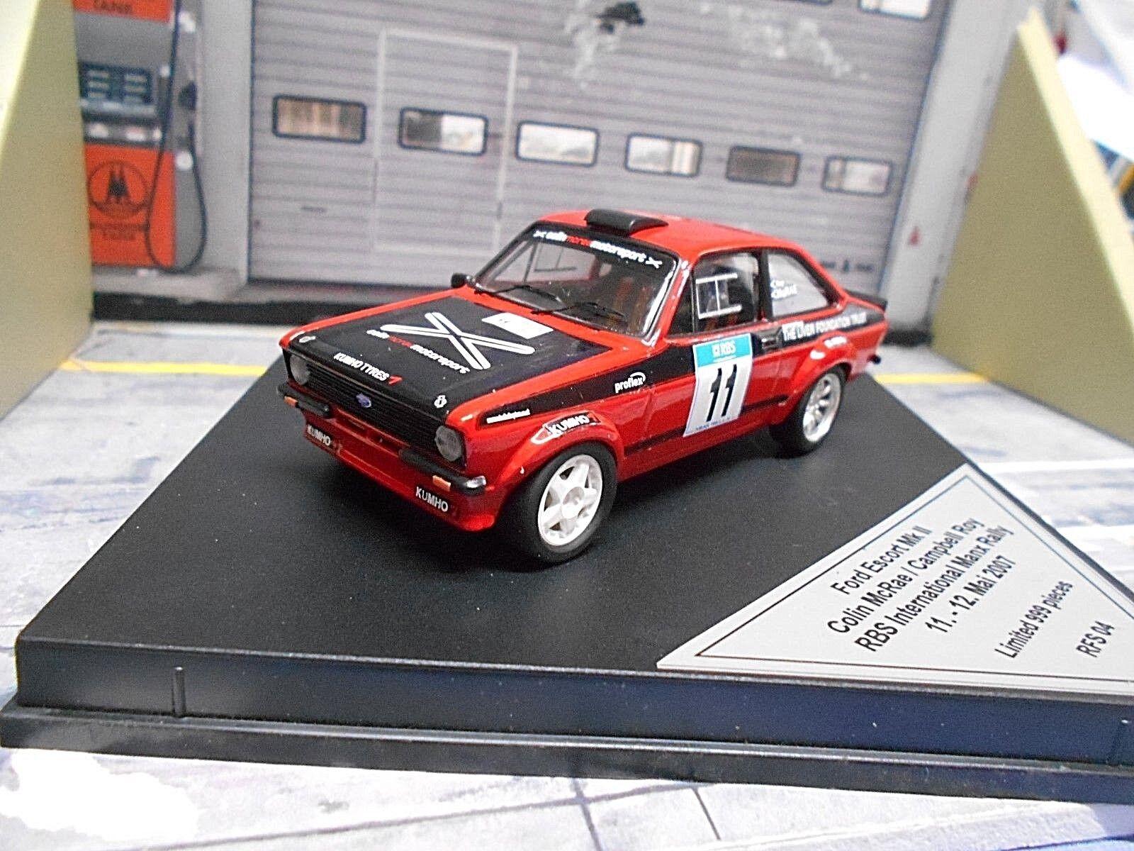 garantía de crédito Ford Escort MKII RS 1800 2.0 Manx Manx Manx 2007 Rallye  11 mcrae lesions found Trofeu 1 43  nuevo sádico