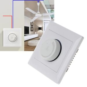 Details about 220V 200W Adjustment Ceiling Fan Speed Control Switch Wall  Button Dimmer Switch