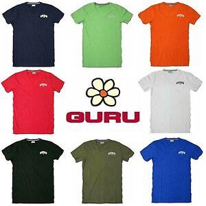 T-shirt uomo GURU manica corta con scollo a V maglietta cotone bianco e colorato
