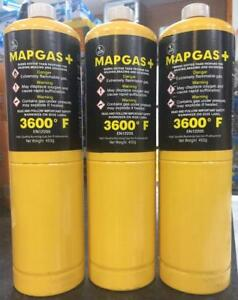 Details about PLUMBERS MAPP GAS YELLOW BOTTLE DISPOSABLE CYLINDER FOR BLOW  TORCH LAMP
