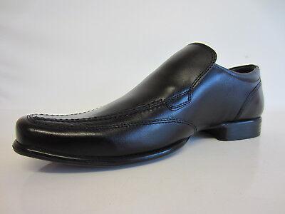 Ikon ik544 Malone Herren schwarz Leder Hineinschlüpfen Schuhe (R30A) (Kett )