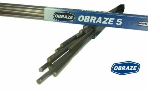 """HVAC 1//8"""" x 20"""" BCup-5 Flat Alloys Obraze Lot of 5x1Lb Brazing Rods 5/% Silver"""