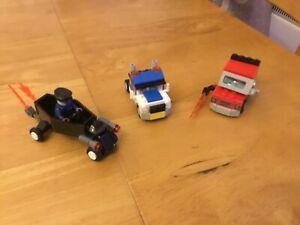 LEGO-Vehicle-Bundle-3-Sets-amp-1-Minifigure-30121-30024-30200-Cars-Monsters