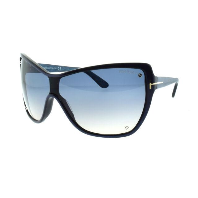 43ef751cc8 Tom Ford Ekaterina Shield Blue Gradient Sunglasses Item No. Ft0363 ...