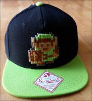 Nintendo NES SNES The Legend of Zelda Classic 8bit Link Snapback Cap Hat NEW