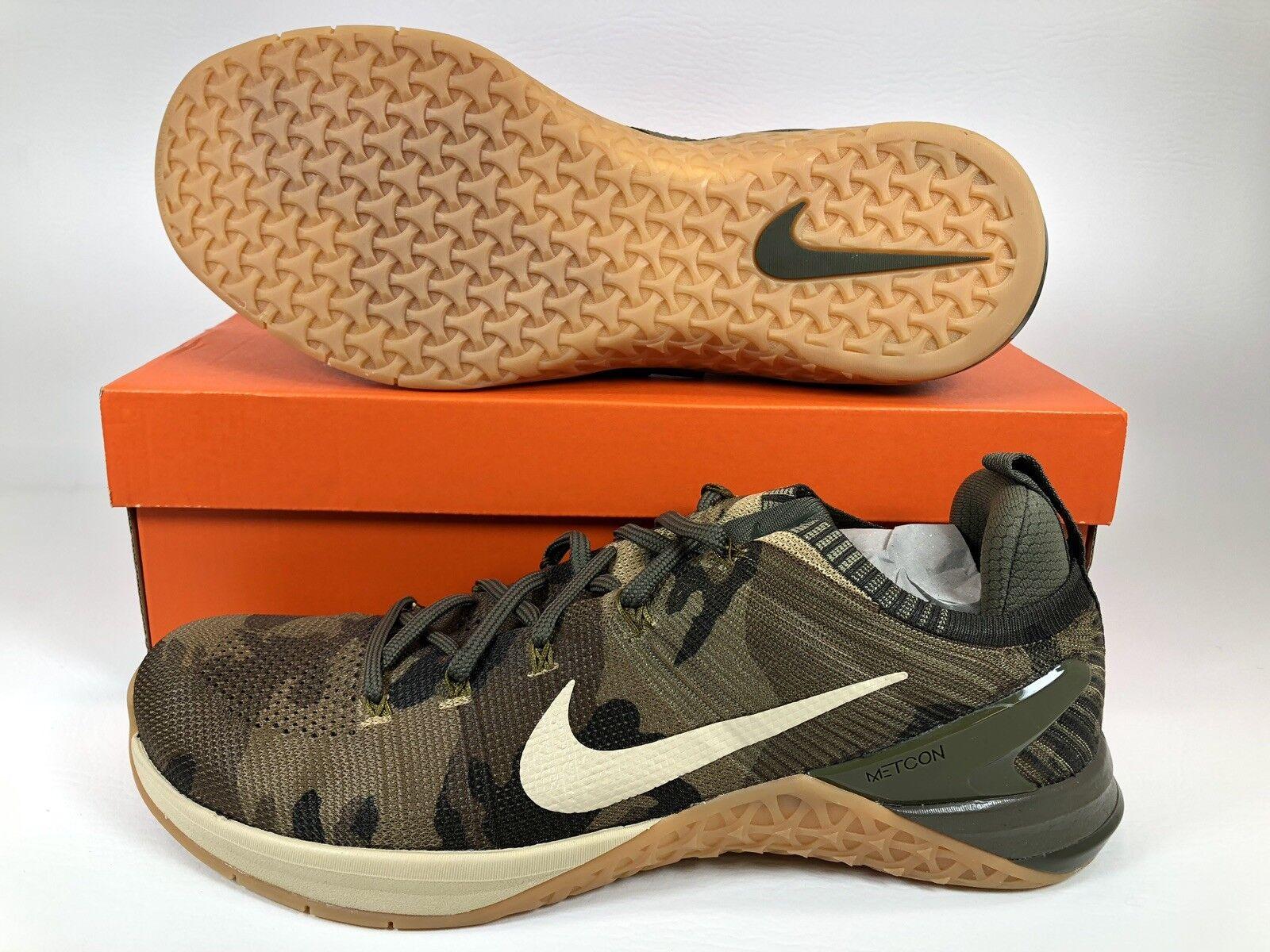 Nike Metcon DSX Flyknit 2 Men Cross Training shoes SZ 12.5 Olive Camo 924423-300