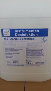 Bohrerbad 10 Ltr.netto 42,00 Euroab3x10xltr Portofrei-literpreis 5,00 Euro Desinfektionsmittel