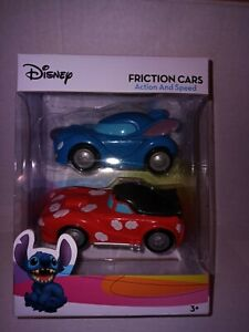 Disney Lilo and Stitch Friction Cars Toys Two Cars with Action & Speed NEW