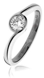 Diamond-Solitaire-Ring-F-VS-Round-Brilliant-Cut-0-40ct-18ct-White-Gold-Band