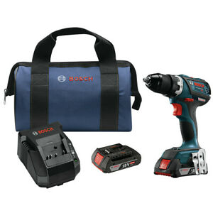Bosch DDS18302RT 18V 2.0 Ah Li-Ion Compact Tough 1/2 in. Drill Driver Kit Recon
