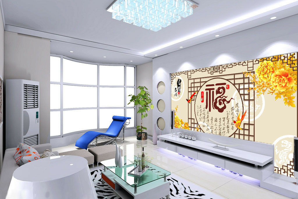 3D Parrots Peonys 75 Wall Paper Murals Wall Print Wall Wallpaper Mural AU Kyra