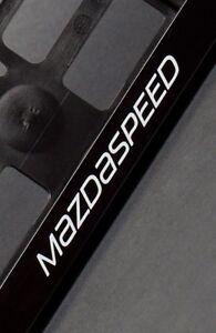 2-x-Mazda-Mazdaspeed-Euro-License-Number-Plate-Frame-Holder