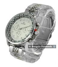 mens big heavy steel business clubbing watch link bracelet designer