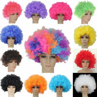 2016 12 Colours Curly Afro Fancy Dress Funky Wig Disco Clown Mens/Ladies Costume