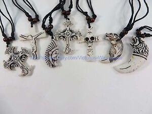 $0.75/p wholesale 50pcs hippie gothic rock punk pendant necklaces jewelry lots
