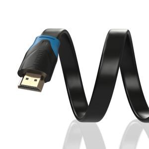5m HDMI Kabel Flach von JAMEGA | 4K Ultra HD 2160p Full HD 1080p | 3D ARC CEC