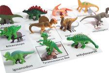 Montessori Dino Animal Match -Miniature Figurine w/ Matching Cards -2 Part Cards