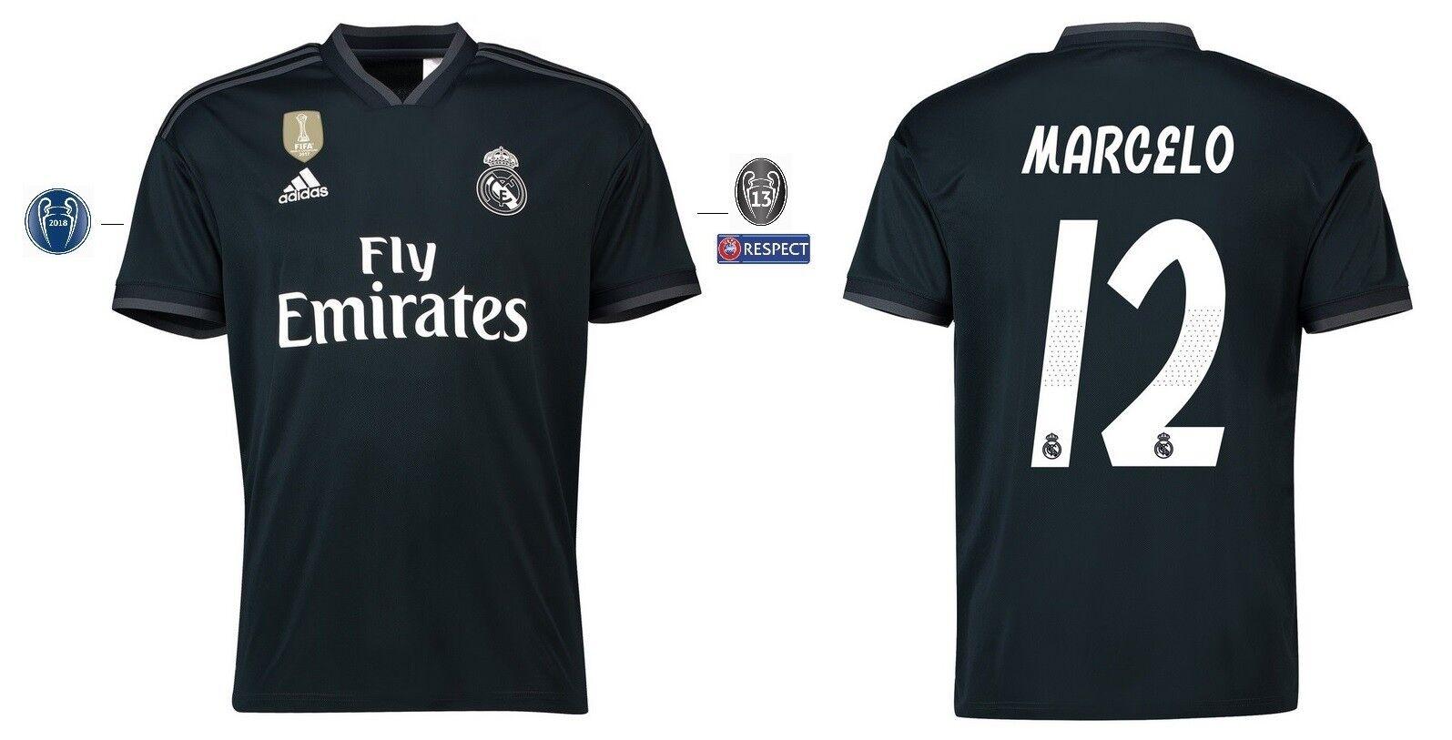 Trikot Adidas Real Madrid 2018-2019 Away UCL - Marcelo 12  Champions