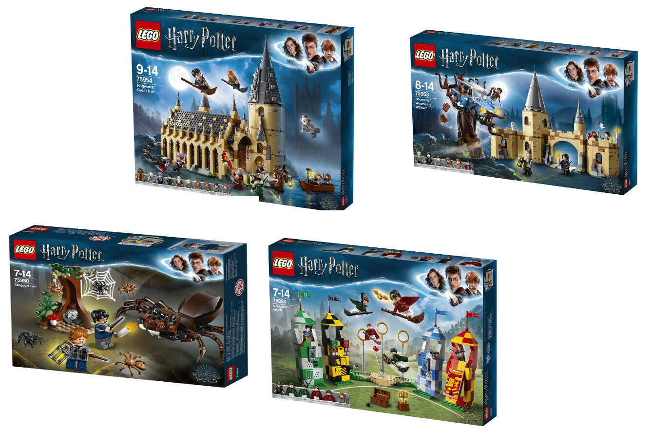 Lego Harry Potter 4er Set 75954  + 75953 + 75956 + 75950, NEUF  qualité authentique