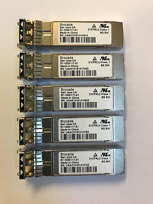 2x Brocade 57-1000117-01 8GB FC 850nm 150m SW XBR-000163 SFP Transceiver