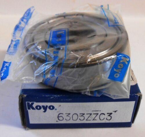 KOYO NIB! BALL BEARING 6303ZZC3 17 X 47 X 14 MM