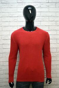 Maglione-Uomo-MARBORO-CLASSICS-Taglia-L-Pullover-Felpa-Girocollo-Cotone-Sweater