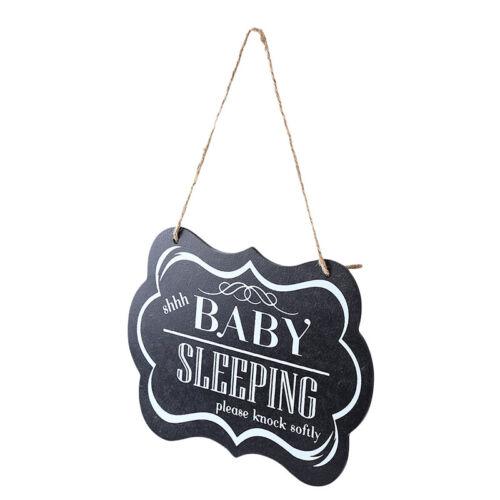 Baby Sleeping Hanging Plaques Please Knock Softly Baby Sleeping Door Sign N7