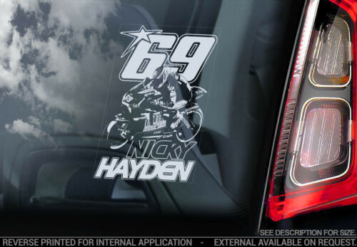 V01 Nicky Hayden Superbike MotoGP Moto GP 69 Decal Sign Car Window Sticker