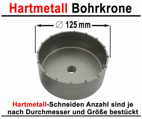 SDS-Max HM Trépan ø 125 mm x 500 mm Doses Perceuse Kernbohrer Carbure Fraise carbure