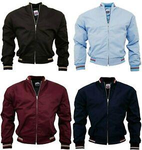 Details zu Men's Monkey Jacket Blue Black Burgundy Skins Ska Mod Light Weight Bomber Jacket