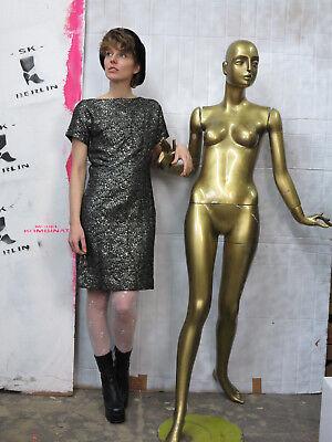 Delizioso Abito Oro Bianco Donna Abito Glitter Capodanno 70er Truevintage 70s Party Dress-mostra Il Titolo Originale