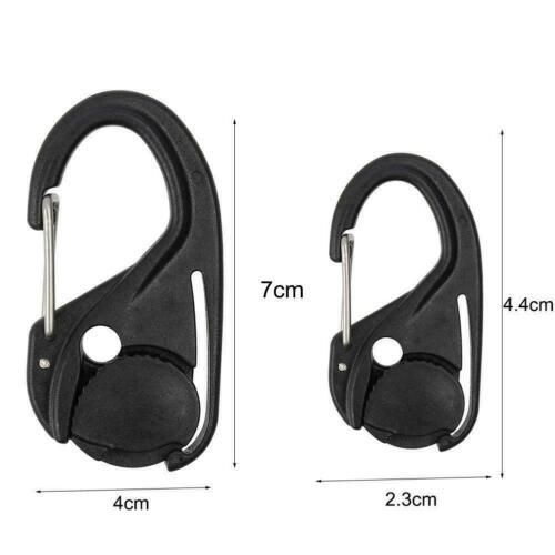 Cord Tightener Lightweight Tie-Down Rope Carabiner Tool Lanyard Hooks Tent O3I0