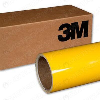 "60""x24"" 3M 1080 GLOSS BRIGHT YELLOW Vinyl Vehicle Decal Car Wrap Film Sheet Roll"