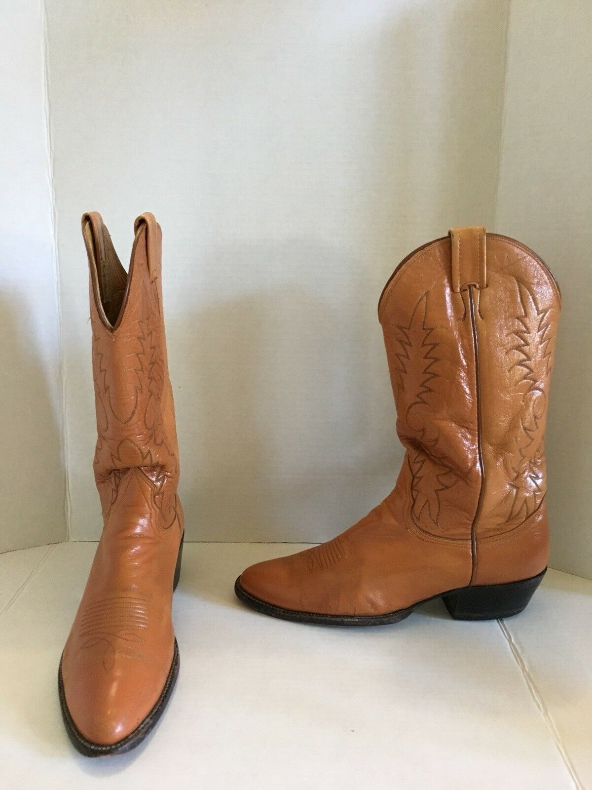 Men's Nocona Texas Western Cowboy Boot Brown 9.5 B Metal Inserts Included