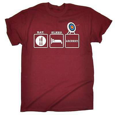 Archer Archery T-Shirt Eat Sleep Repeat Great Gift Idea Present Arrows