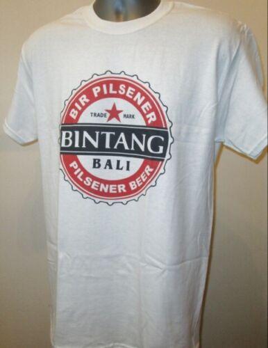 Bali Bintang Beer T SHIRT Asie Lombok Nusa Kuta Beach Surf grande randonnée T318