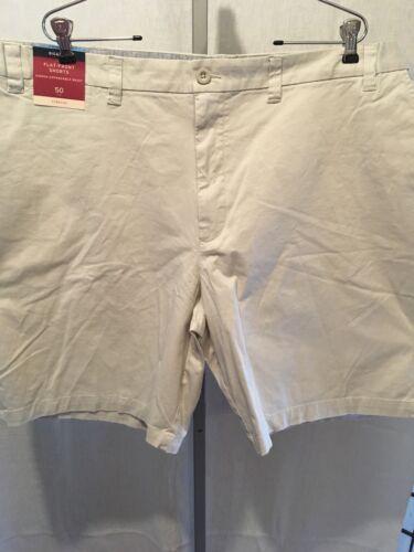 Merona Shorts W50 Flat Front Expandable Waist Stone New 180709