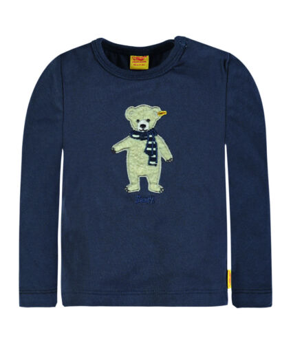56  NEU 6722511 STEIFF Sweet Teddy Boy Shirt mit Teddy blau Gr