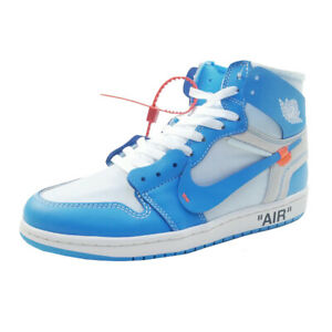 low cost 0e6b4 25a09 Details about OFF WHITE NIKE AIR JORDAN 1 X OFF-WHITE NRG AQ0818-148  Sneakers SKY BLUE US 11