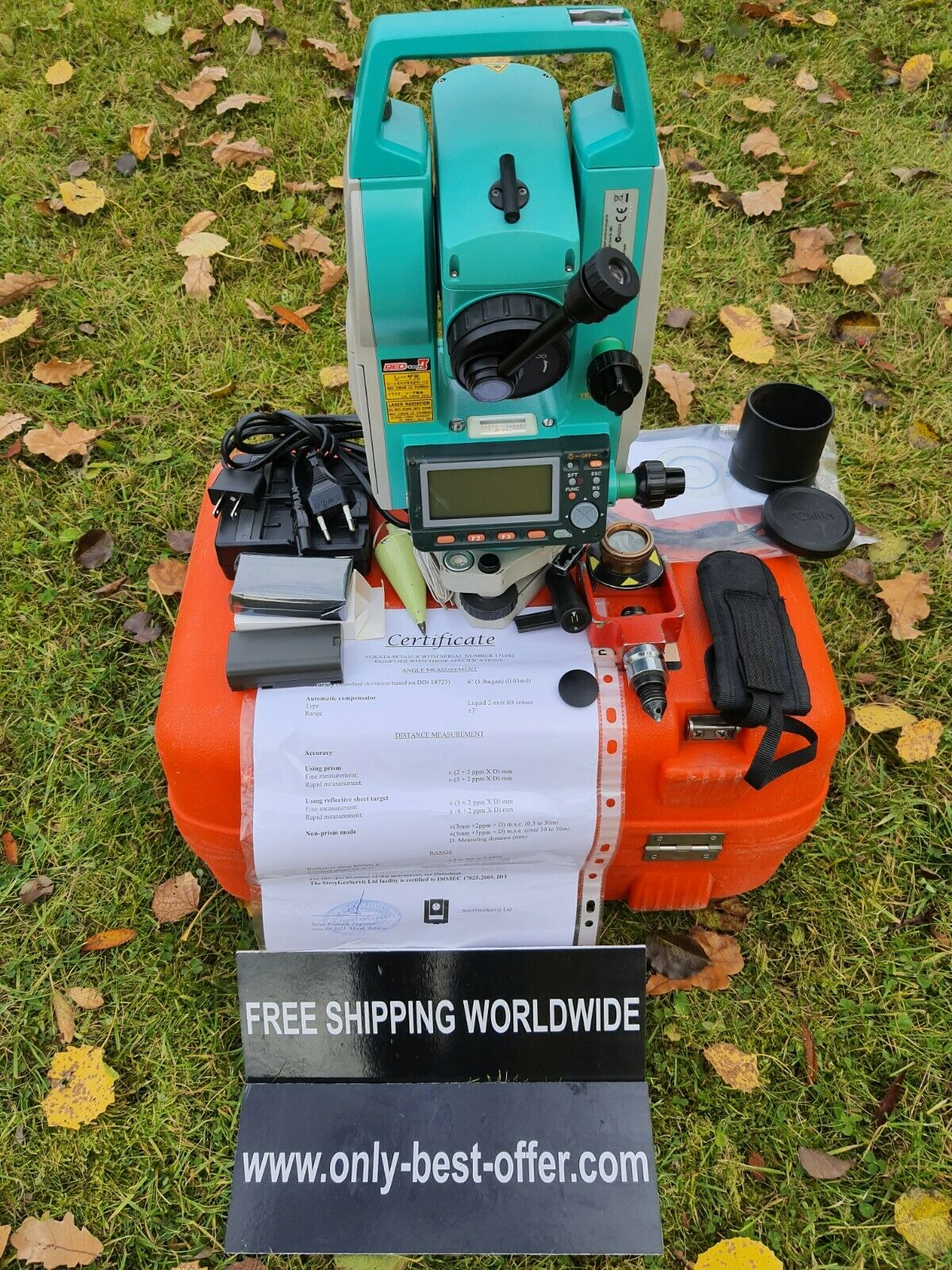 """Sokkia 630R 6"""" CALIBRATED Total Station FREE Shipping Worldwide Warranty 30 days"""