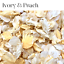 Biodegradable-WEDDING-CONFETTI-IVORY-Dried-FLUTTERFALL-Throwing-Real-Petals thumbnail 23