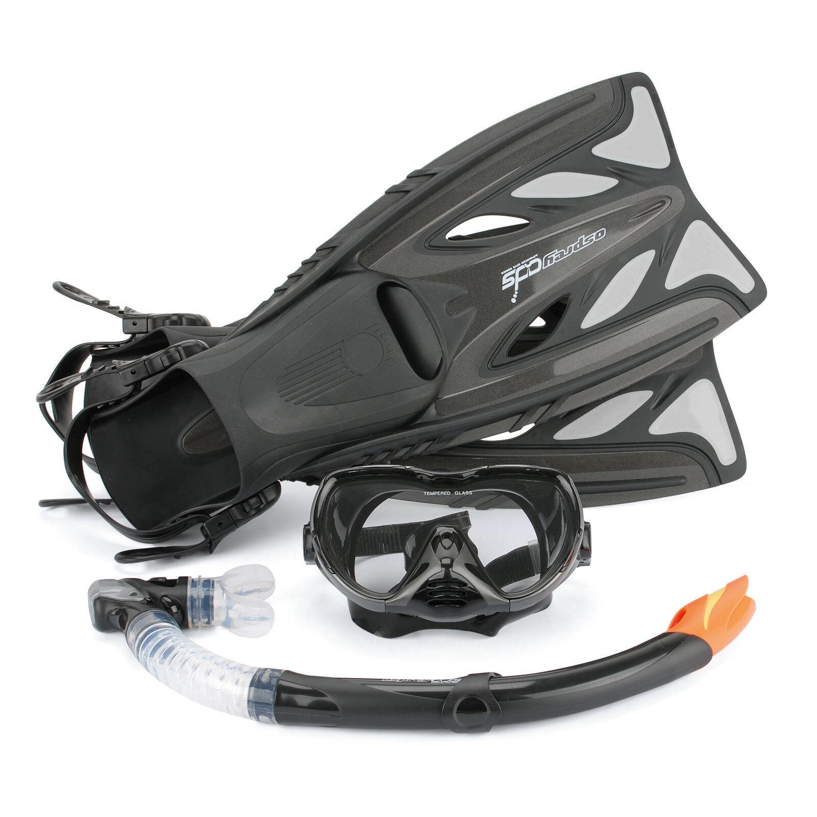 Osprey Osprey Osprey De Luxe Erweiterte Maske Schnorchel & Flossen Pro Tauchen Set Tragetasche ab7c43