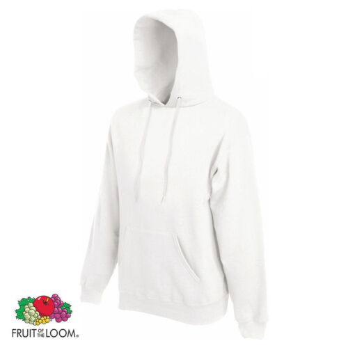 S Fruit Of The Loom Hoodie Classic Hooded Sweatshirt Plain 2XL 20 COLOURS