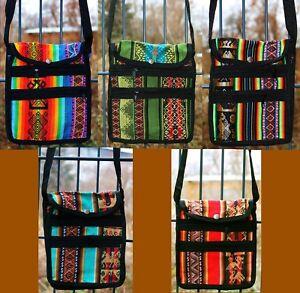 eaf8c48b5d686 Das Bild wird geladen Peru-Tasche-Schultertasche-bunt-gewebt -Inka-Ethno-Muster-