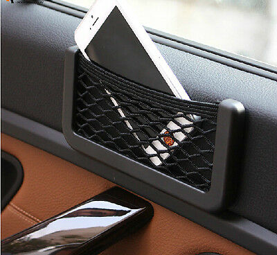 Luxury Car Seat Site Storage Net Bag Pouch GPS Phone Holder Pocket Organizer New