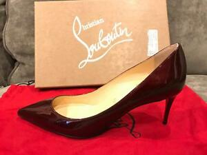 0315dd93a22 Image is loading Christian-Louboutin-Decollete-554-70-Patent-Heels-Pumps-