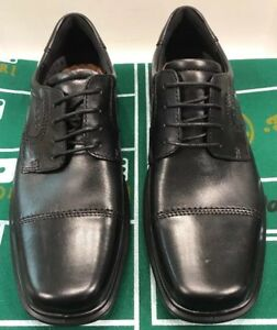 cc7b81b237ce ECCO Helsinki Cap Toe Oxfords LaceUp Tie Black Men 12 12.5 US 46 EU ...